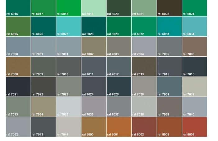 Ral couleurs acportail - Les differentes nuances de rouge ...