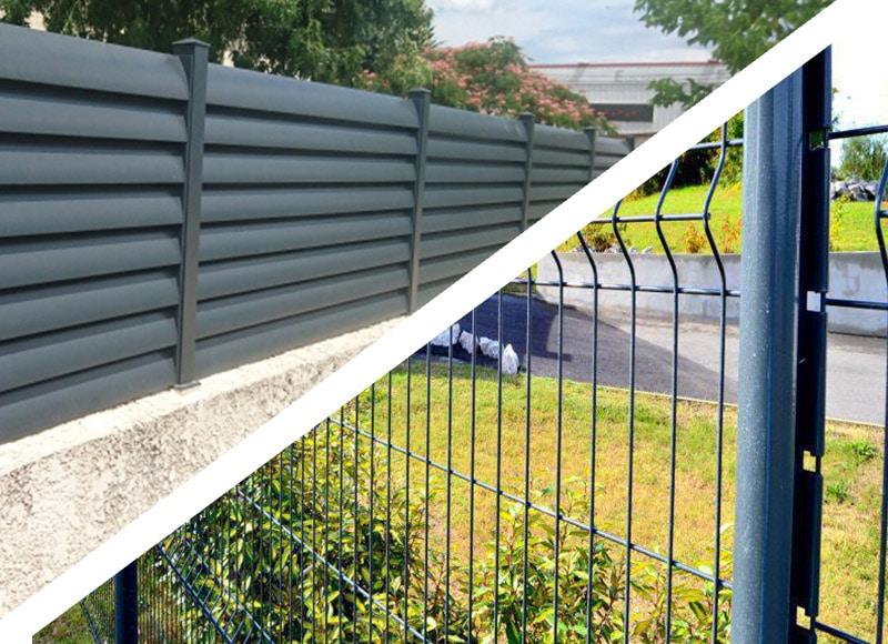 Clôture alu - Panneaux rigide
